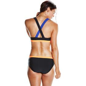 speedo HydrActive 2 Piece Bikini Women Black/Ultramarine/Fluo Orange